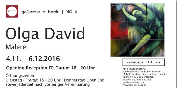Einzelausstellung in der Galerie m-Beck Homburg