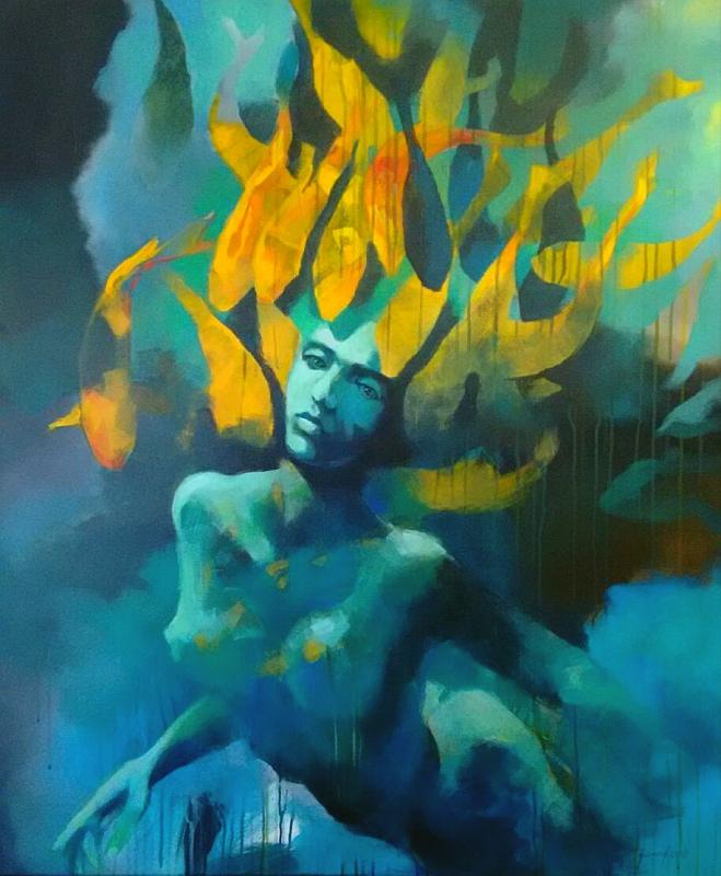 """""""Schwarm"""" Original Gemälde von Olga David"""