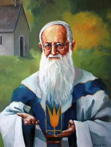 Ölgemälde Pater Josef Kentenich 2015 olga david