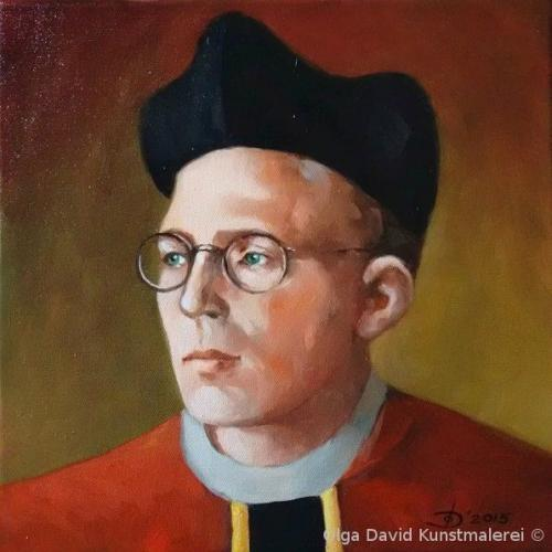 Personenportrait Karl Leisner Ölgemälde olga david