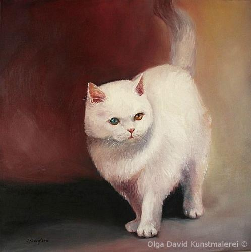 Katzeporträt Öl auf Leinwand